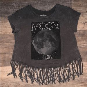 American Eagle moon and stars soft tee